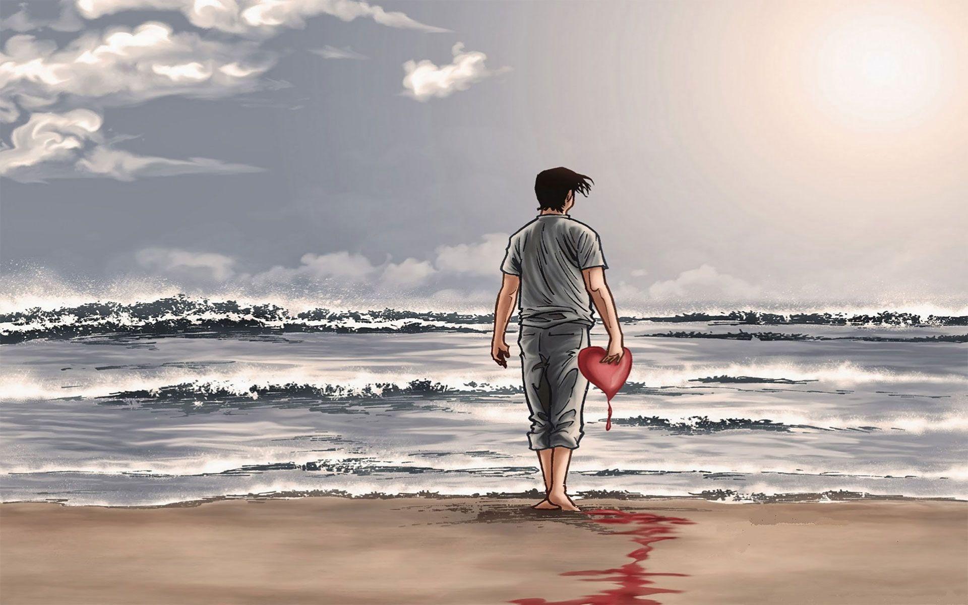 Pin On Sad Wallpapers Emotional broken heart boy hd wallpaper