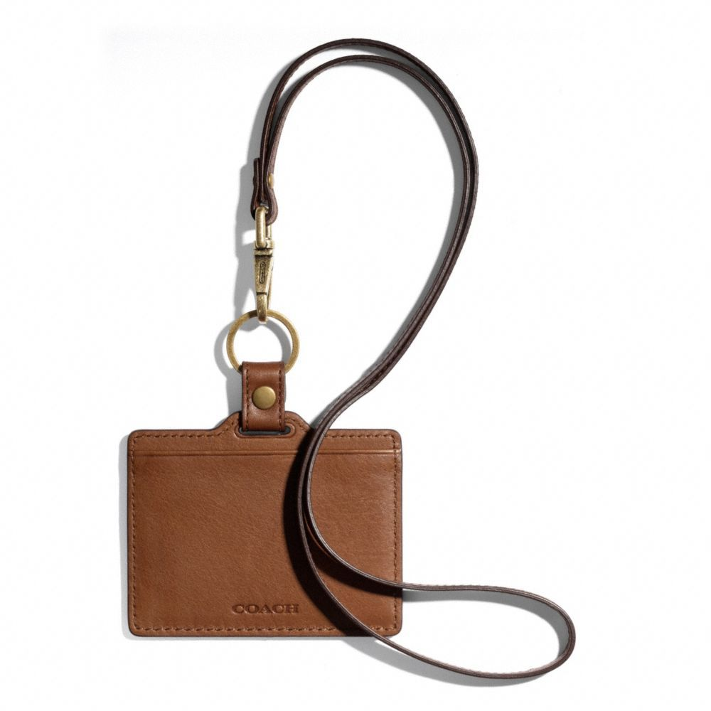 225d2dcfb13e9 The Bleecker ID Lanyard In Leather from Coach