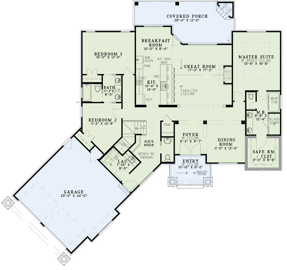 Nelson design group house plans design services for Angled garage floor plans