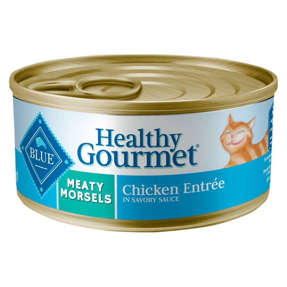 Blue Buffalo Healthy Gourmet Adult Meaty Morsels Chicken Entree Wet Cat Food 5 5oz Canned Cat Food Dry Cat Food Healthy Gourmet