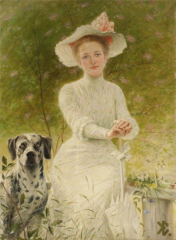 Knut Ekwall - Portrait of Anne Sophie