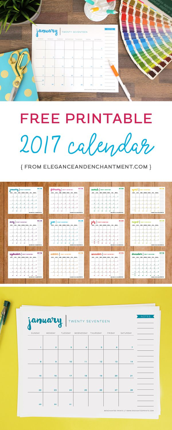 Year Long Calendar : Download this free printable calendar and stay