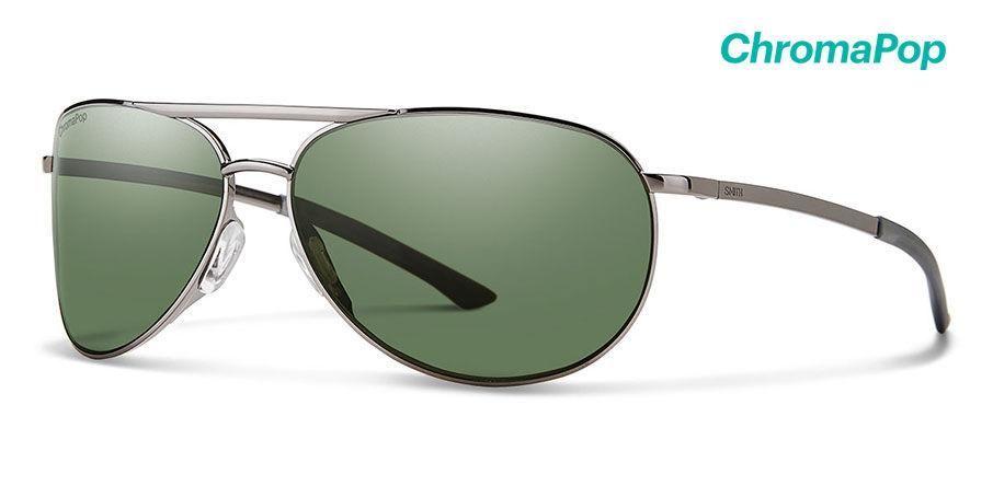 0172dc8d11d Smith - Serpico Slim 2 Gunmetal Sunglasses   ChromaPop Polarized Gray Green  Lenses