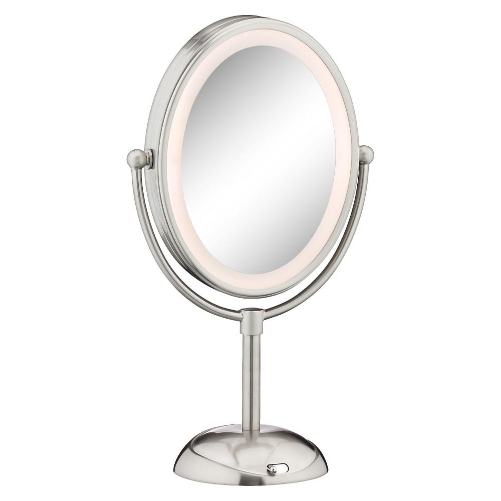 Conair Satin Nickel Led Cosmetic Mirror Mirror Ring Light