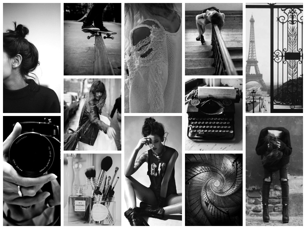 Fashion week Collage fashion backgrounds black and white for woman