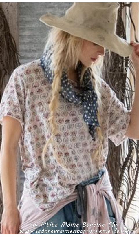 603de86e5c15f New Boyfriend Tee En Reya Imprimé   T shirts   Magnolia pearl ...