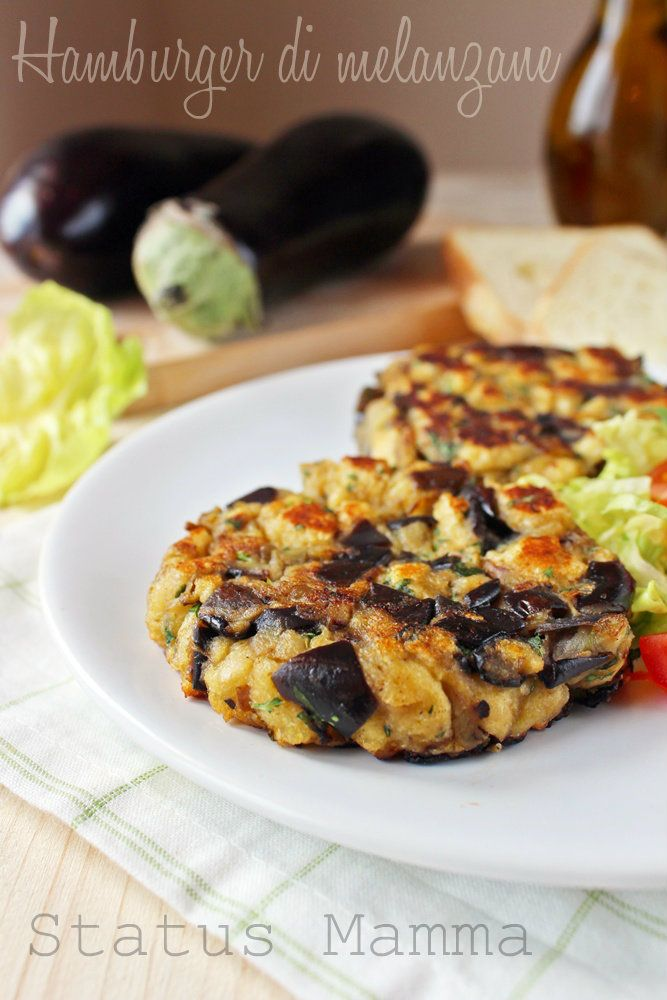 Hamburger di melanzane vegetariano hamburger di for Cucinare vegetariano