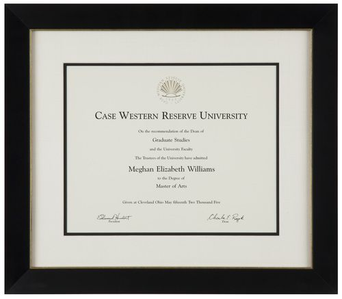 Frame Certificates Diploma Picture Document University College 11x14 Inch Black