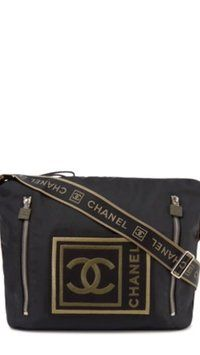 acc0ee55a5a7 Get the trendiest Cross Body Bag of the season! The Chanel Black/ Green  Cross Body Bag is a top 10 member favorite on Tradesy.