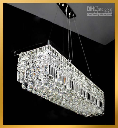 Wholesale contemporary clear rectangular crystal pendant lamp wholesale contemporary clear rectangular crystal pendant lamp hanging chandelier suspension light free shipping 40304 aloadofball Images