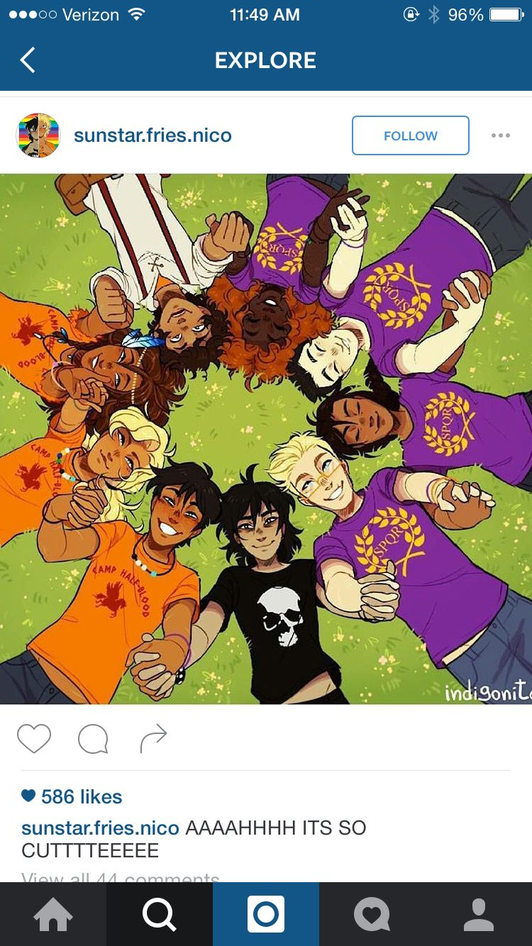 Isn't this the cutest thing! Found on Instagram, had to share with my fellow Percy Jackson fans on Pinterest