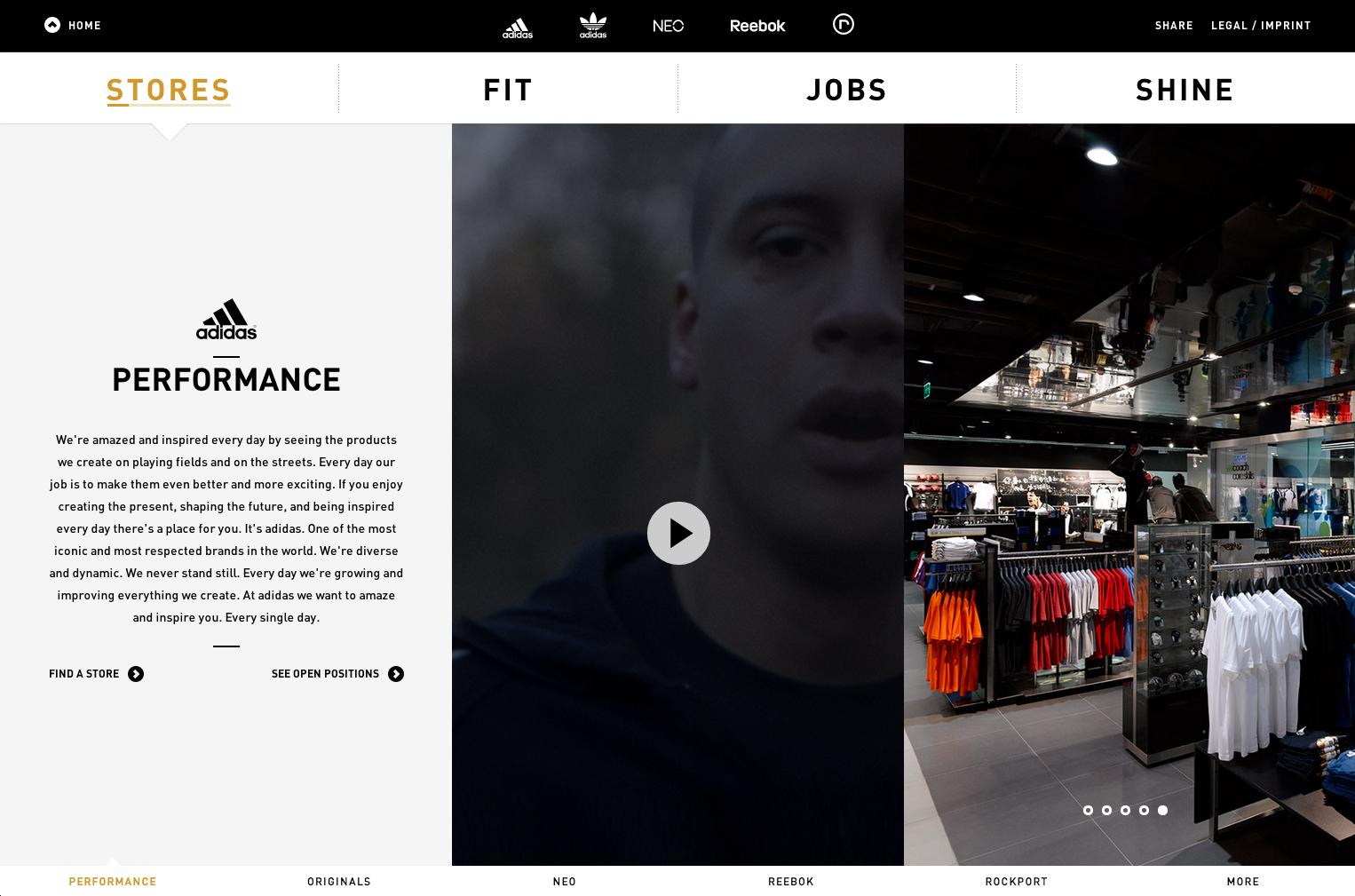Adidas Group Retail Careers:  http://www.adidasretailjobs.com/