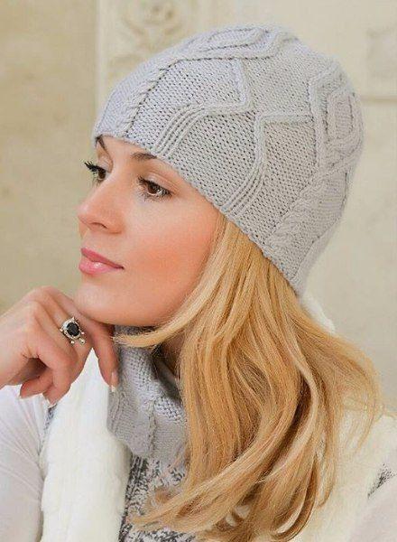 Красивая шапoчка спицами. Обсуждение на LiveInternet - Российский Сервис Онлайн-Дневников