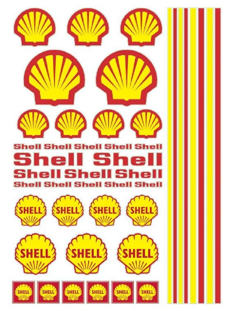 Shell Gas Rc Cars Ho Vinyl Sticker Sheet 7x5inches Etsy Vinyl Sticker Sheets Decal Sheets Custom Hot Wheels [ 1078 x 794 Pixel ]