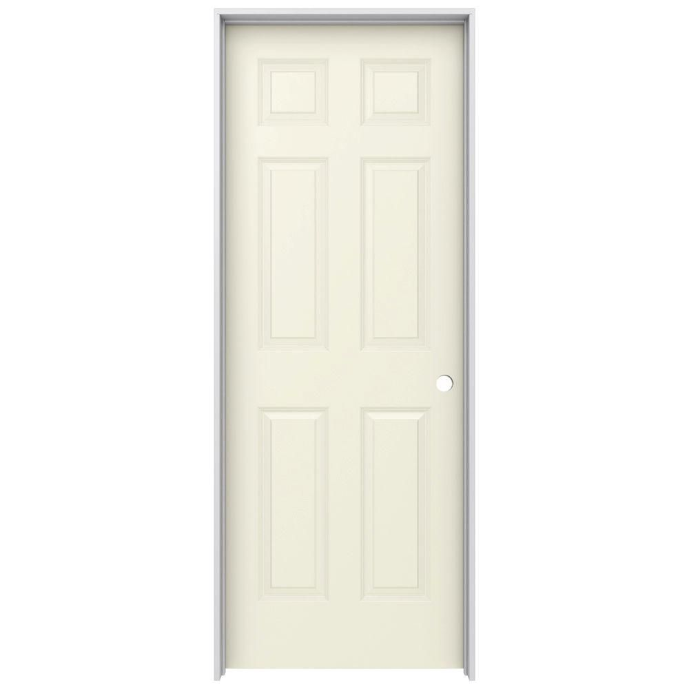 Jeld Wen 32 In X 80 In Molded Smooth 6 Panel French Vanilla White