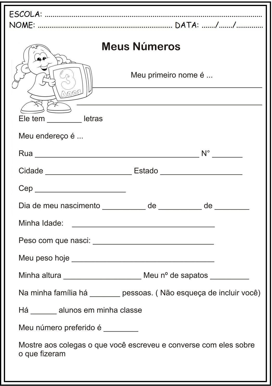 Atividades Volta As Aulas Para Imprimir Portugues
