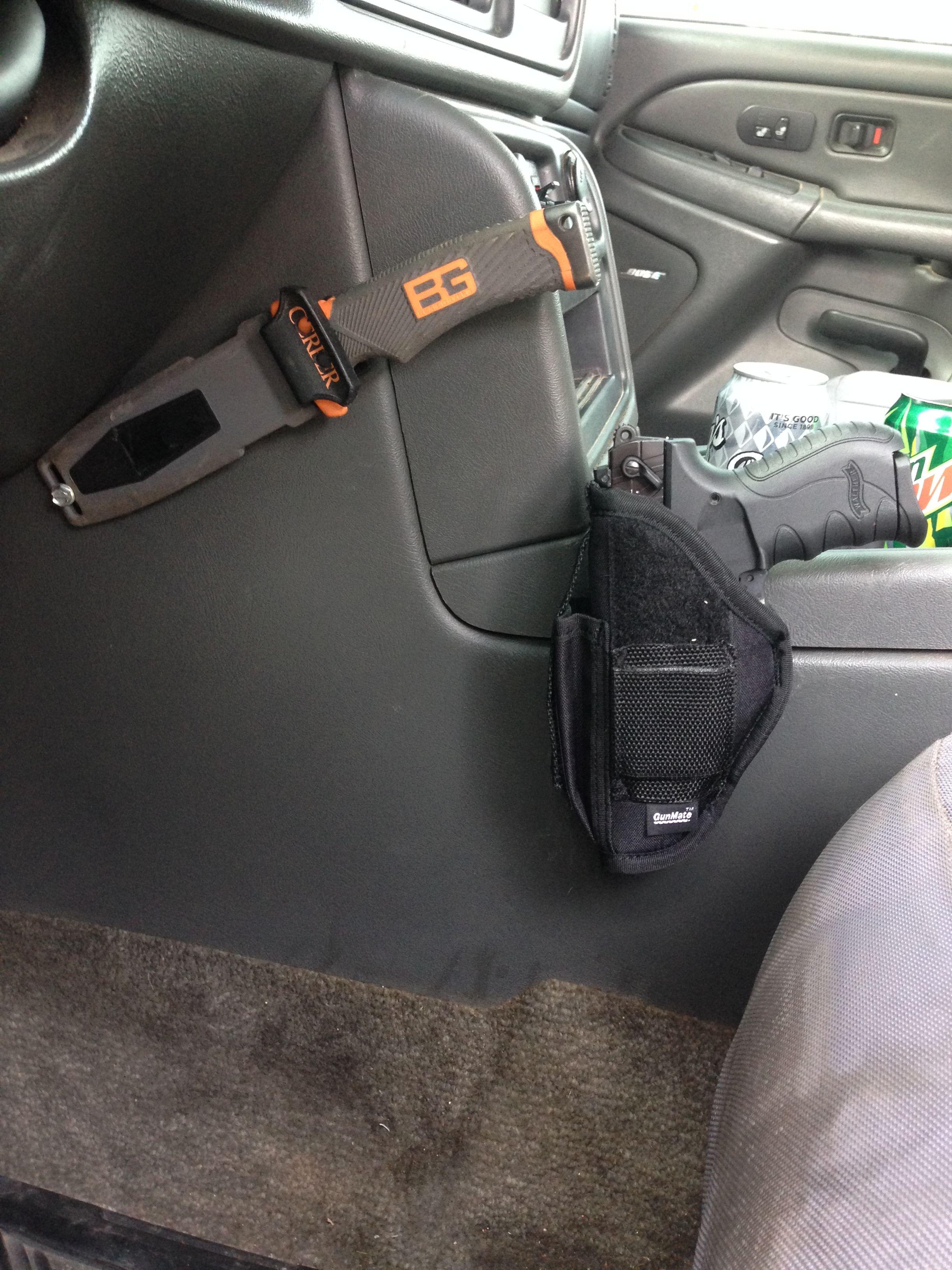 Hunting Responsible Under Table Desk Chair Pistol Holster Gun Concealment Handgun Holders Universal Hidden Concealed Holsters For Vehicle Car Doors Sports & Entertainment