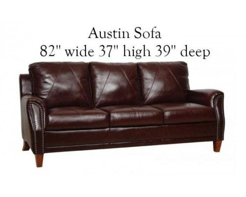 Austin Leather Sofa Set