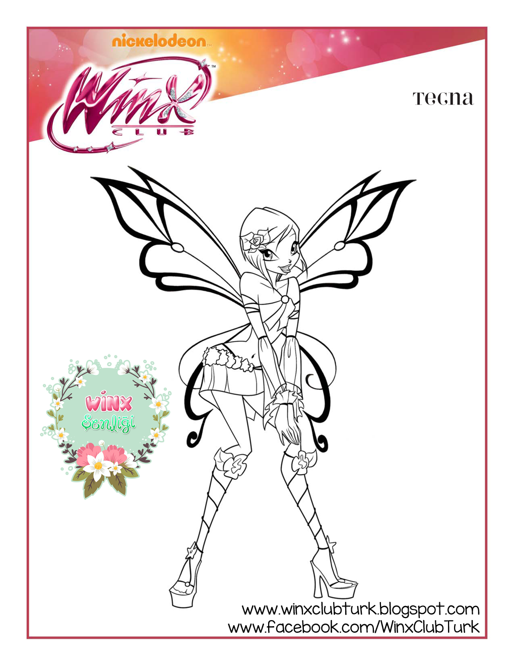 Pin by majamørkholt on winxclub coloring pages pinterest