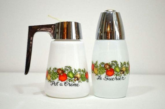 Vintage Spice of Life French Gemco Milk Glass by VintageRescuer,