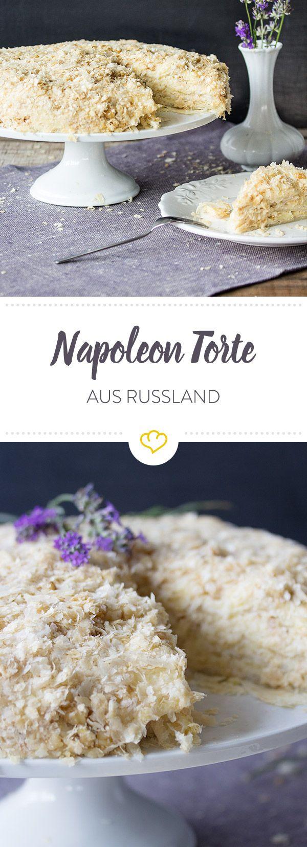 Traditionelle Napoleon Torte: Das Original aus Russland