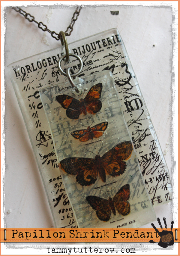 Papillon utee pendant pendants shrinky dinks and craft papillon utee pendant mozeypictures Choice Image