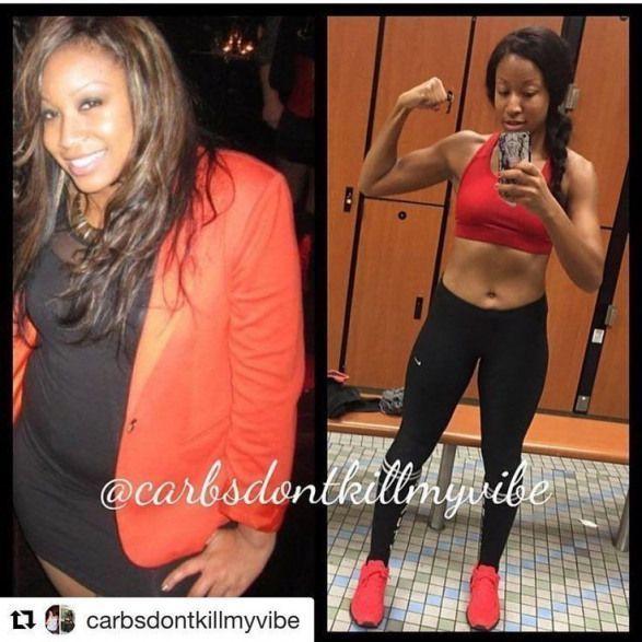 Lesen Sie ihre Transformations-Erfolgsgeschichte! Vor und nach Fitness Motivation und B ... -...   -...