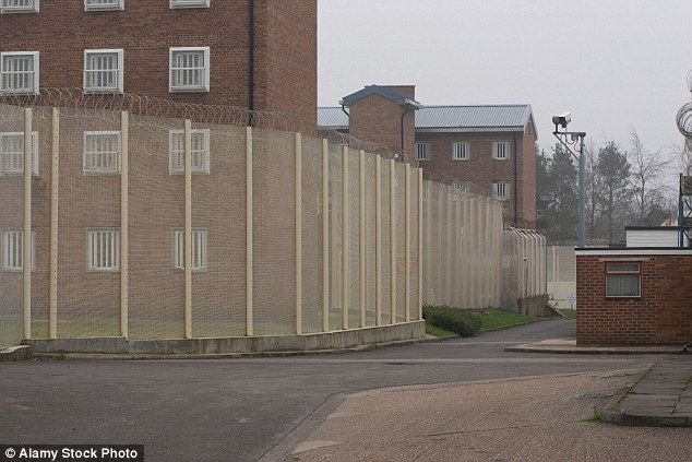 Madala Washington, 25, was killed during a lunch break at Coldingley Prison, pictured, in Surrey, the MoJ confirmed