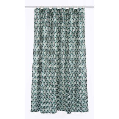 Lj Home Metro Shower Curtain Set Color Forest Green Linen Beige