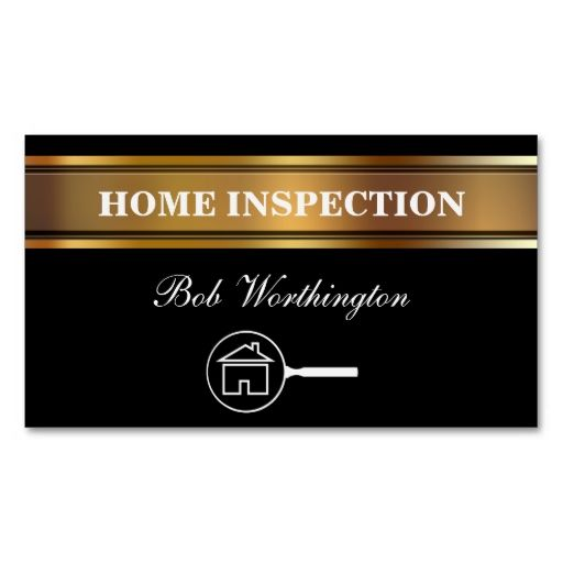 Home Inspection Business Cards Make Your Own Card With This Great Design All