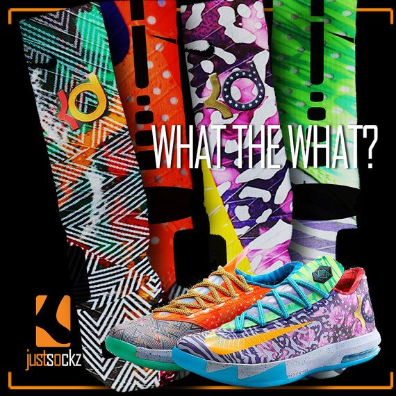 Custom Nike What the What Elite Socks by JustSockz on Etsy