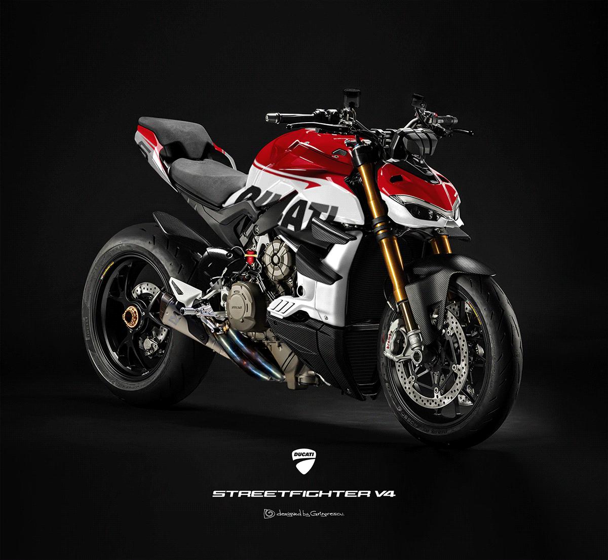 2020 Ducati Streetfighter V4 Design Project On Behance In 2020 Ducati Ducati Motorbike Super Bikes