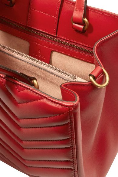 3003a9774d30d5 Gucci - Gg Marmont Quilted Leather Tote - Red - one size | Products ...