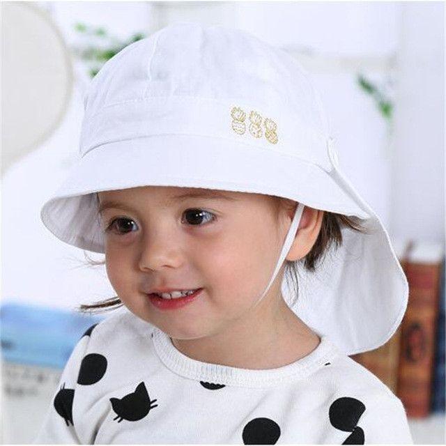 6b432c32ae6 Baby Hat Summer Boys Sun Hat Toddler Baby Girls Hats Autumn Kids Beach Bucket  Cap Children