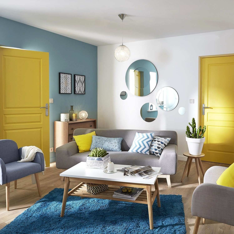 Chambre Bleu Et Jaune Génialchambre Bleu Et Jaune Avec Salon