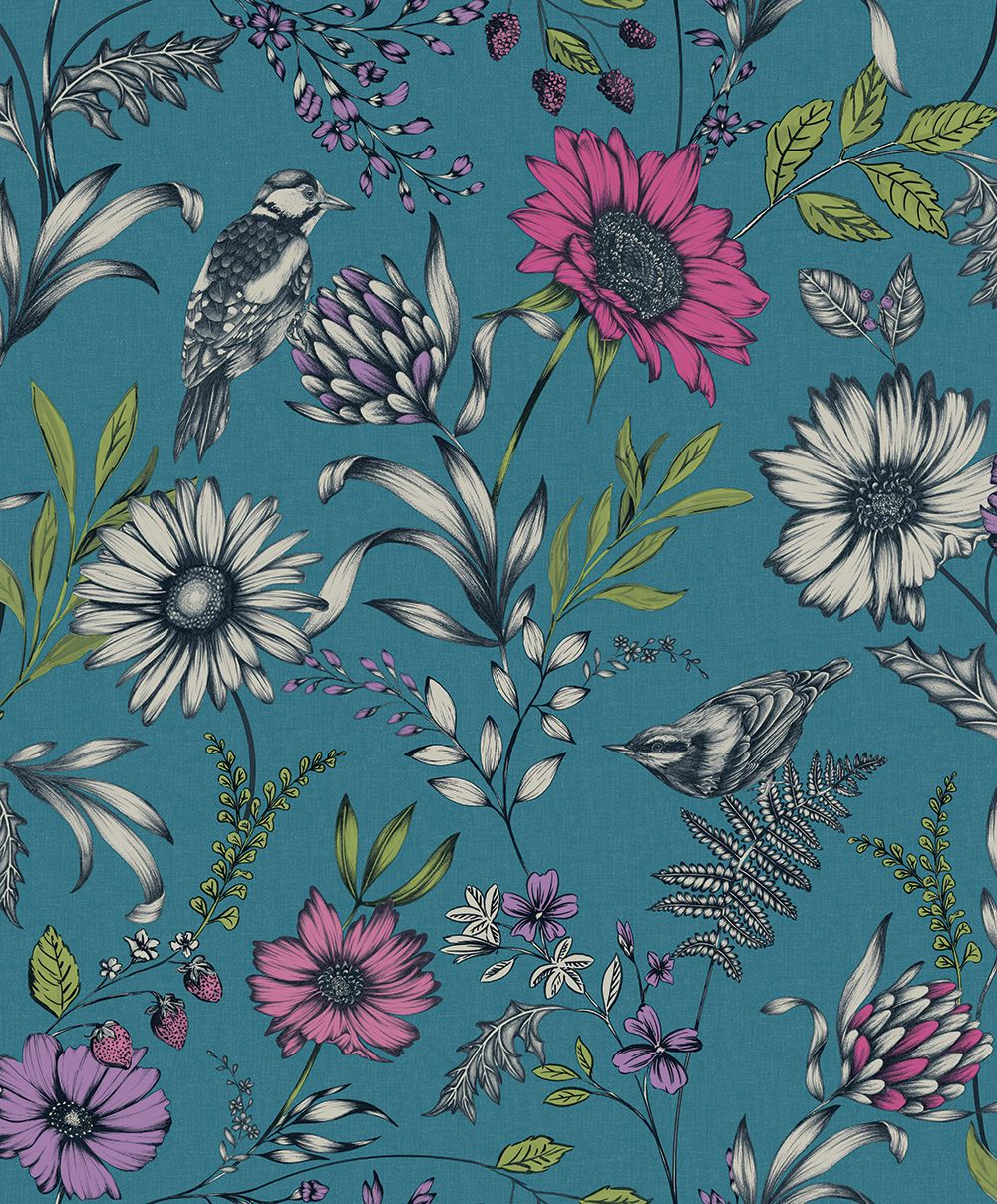 Botanical Songbird by Arthouse Teal Wallpaper 676001