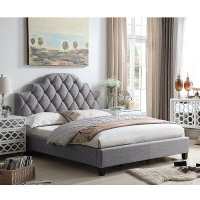 Everly Quinn Norfleet Diamond Tufted Upholstered Panel Bed