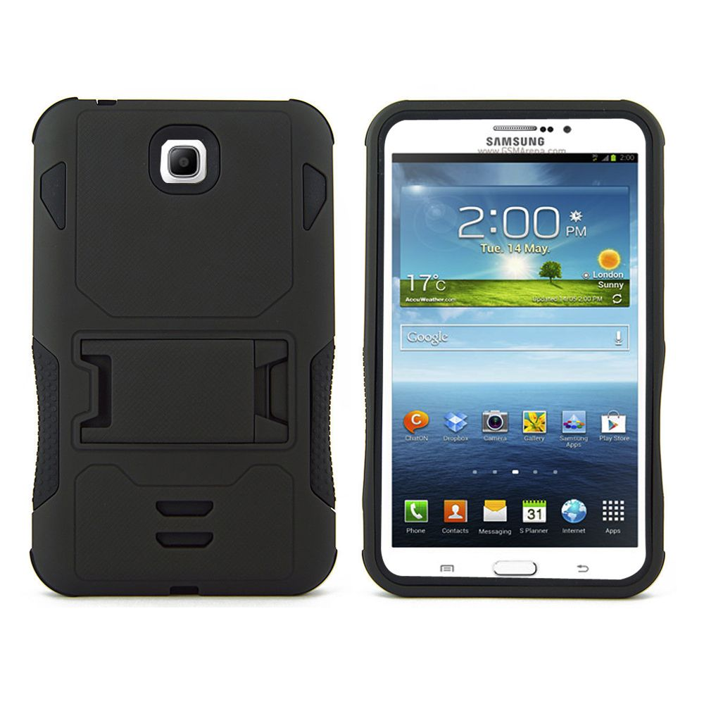 Samsung Galaxy Tab 3 7 0 P3200 Case Heavy Duty Rugged Hybrid Tri Layer Armor