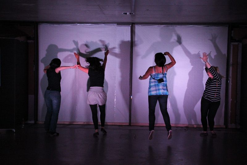 """A physical engagement of the students to produce """"Light Beats"""""""