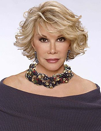 Joan Rivers-This photo captures Joan's vulnerability, in spite of what some superficials would conclude...she's a successful woman who's hard fought winning's been achievement all the way...'trump-ing' every venue!