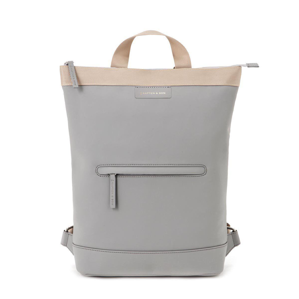 Umea Sand Grey Minimalist Bag Grey Backpacks Modern Backpack