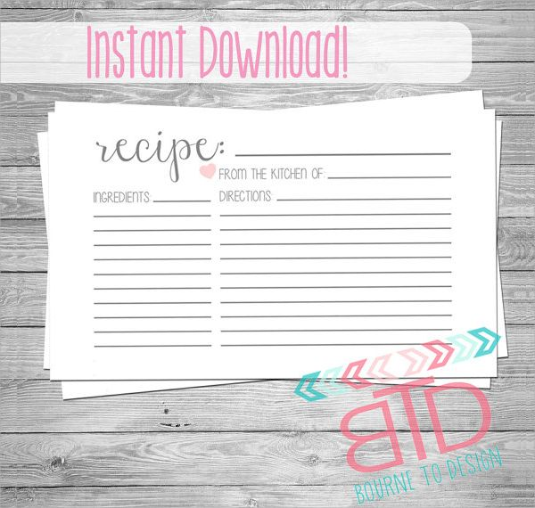 27 Printable Recipe Card Free Psd Vector Eps Png Format Download Recipe Cards Printable Templates Recipe Cards Template Recipe Cards Printable Free