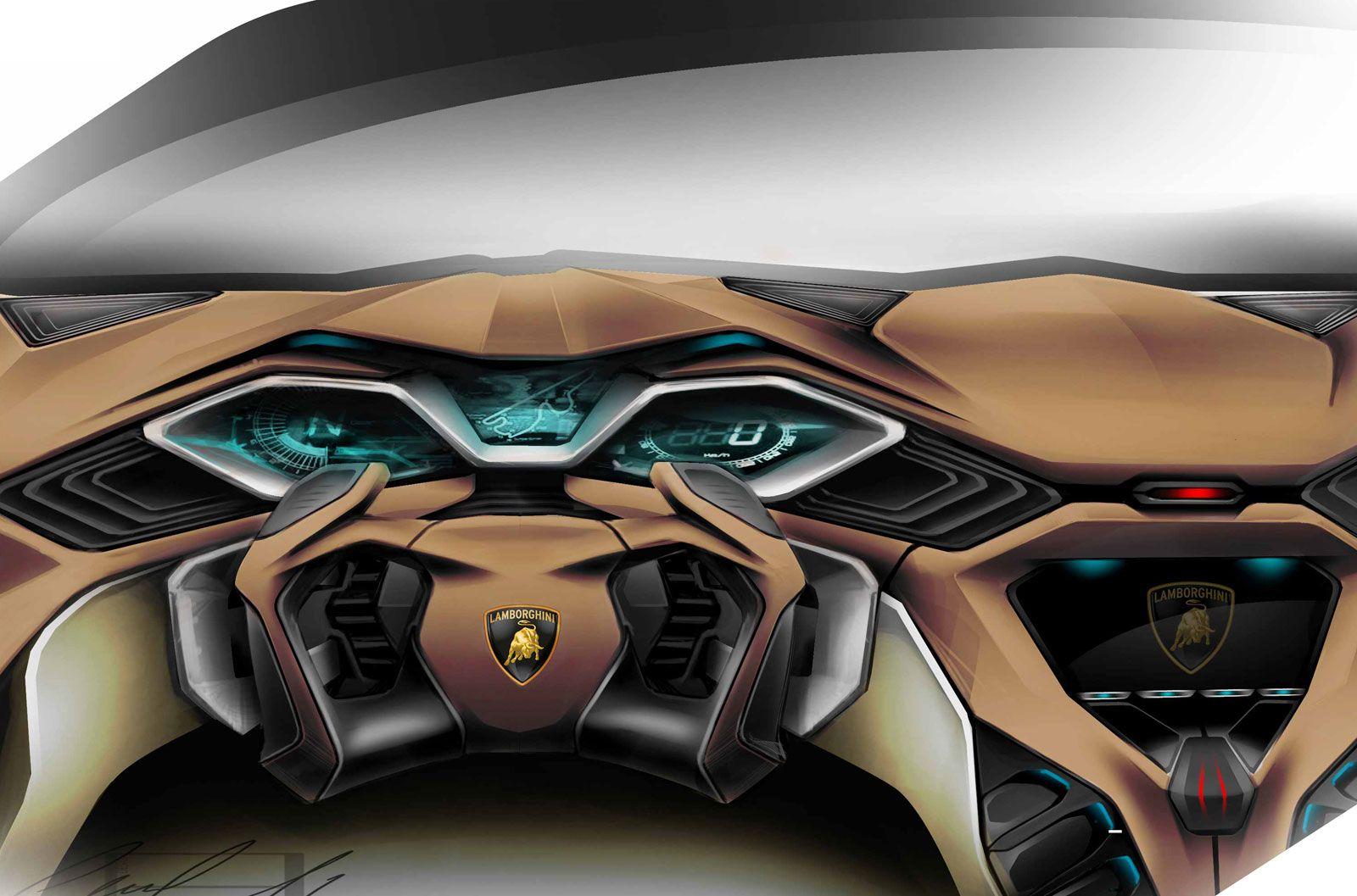 Spd Lamborghini Concept Interior Design Sketch Sweet Lambo