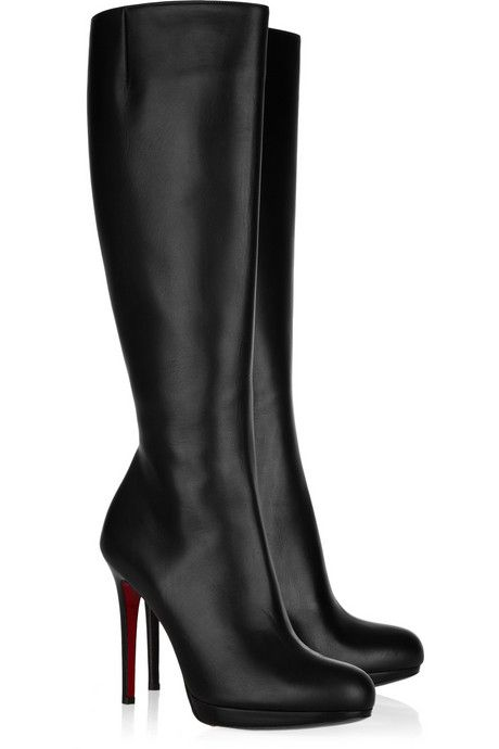 7c04d852efd CHRISTIAN LOUBOUTIN New Simple Botta 120 leather knee boots ...
