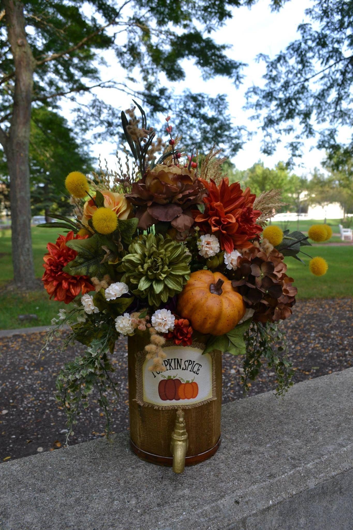 Fall Floral Arrangement Chicago Silk Florist Floral Designer