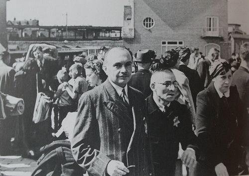 1942. Jewish citizens gather at the Muiderpoortstation in Amsterdam before their deportation to transit camp Westerbork. #amsterdam #worldwar2 #Muiderpoortstation