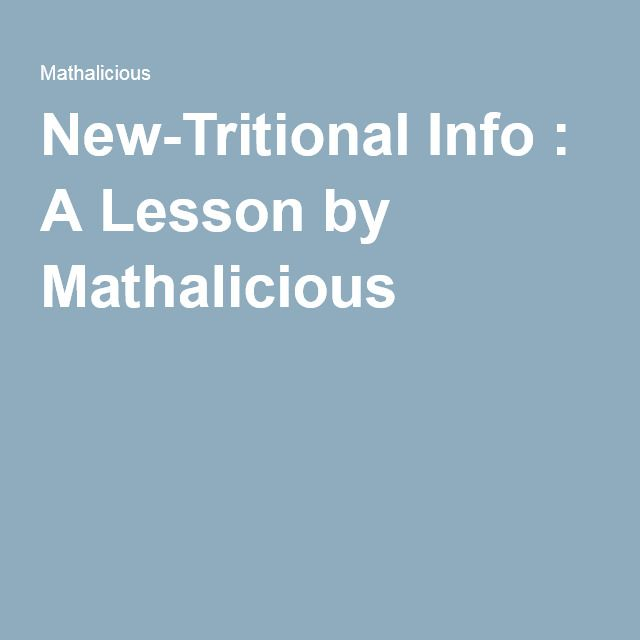 New-Tritional Info : A Lesson by Mathalicious | Math | Pinterest ...