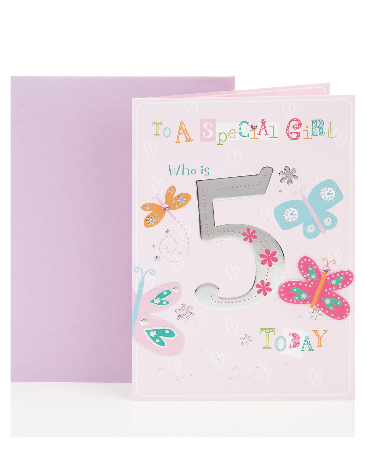 Special girl age 5 birthday greetings card ms cards special girl age 5 birthday greetings card ms kristyandbryce Image collections