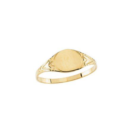 Custom Engraved Yellow Gold Pinky Signet Ring  - click to get yours right now!