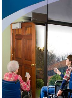 Automatic door openers allow easy access around the house for wheelchair users by eliminating the need & Automatic door openers allow easy access around the house for ...
